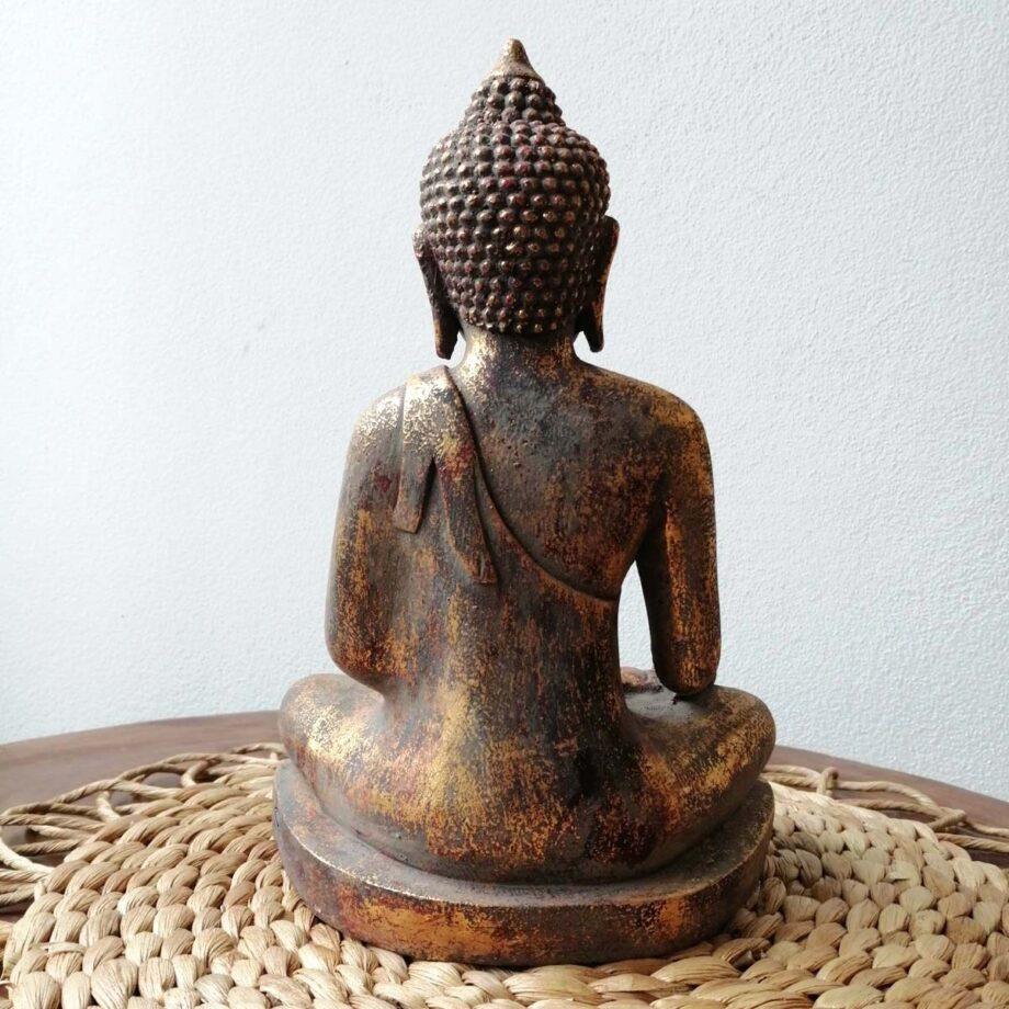 STATUA BUDDHA RESINA ORO (4)