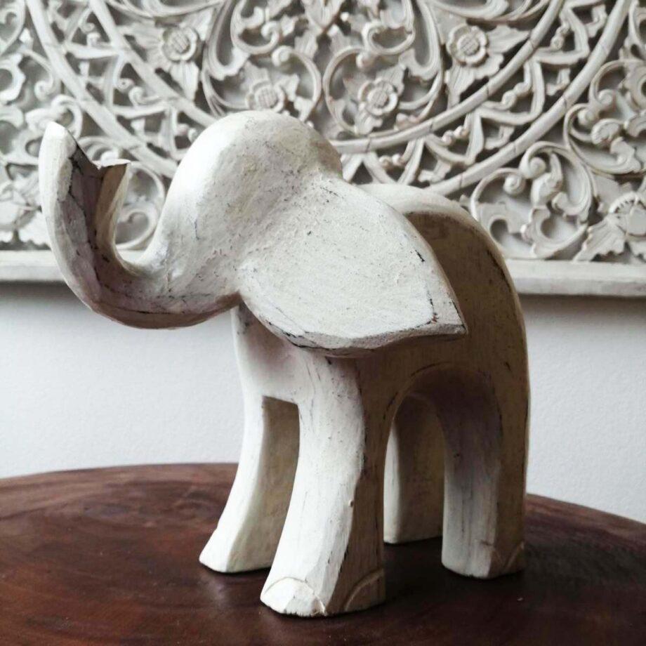 elefante legno l decorazione etnico