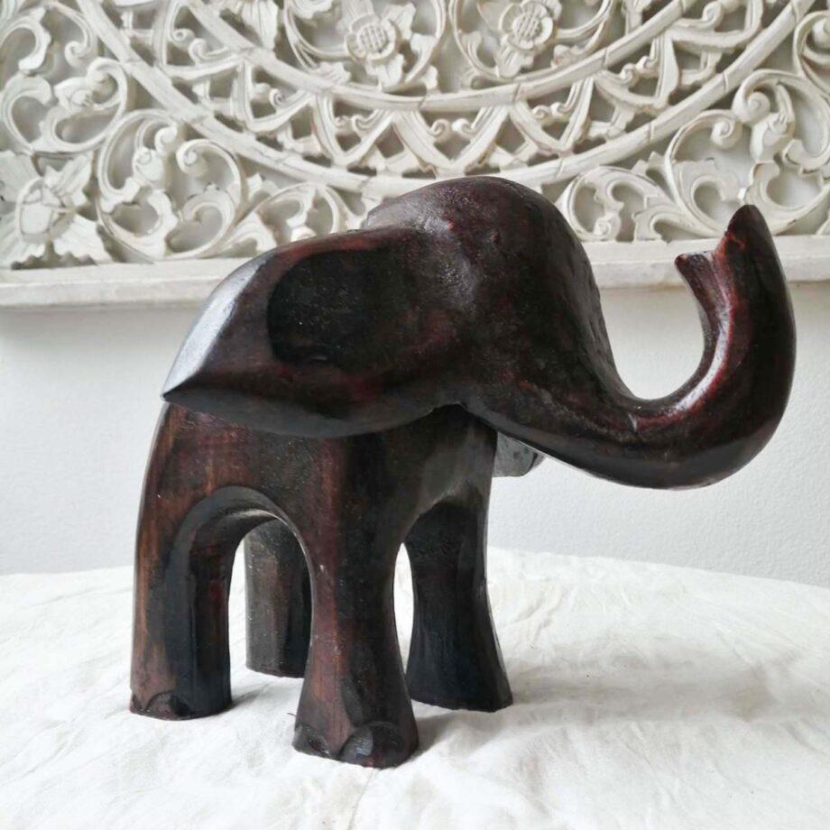elefante legno l marrone arredo etnico