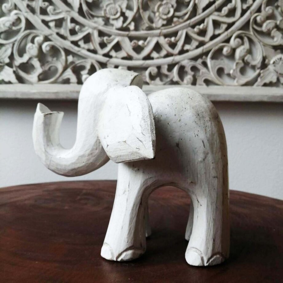 elefante legno m decorazione etnico