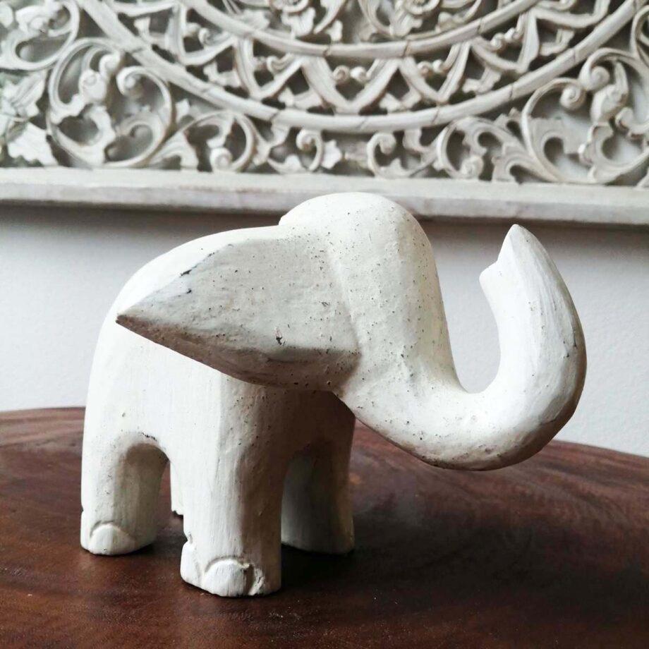 elefantino legno decorazione etnico