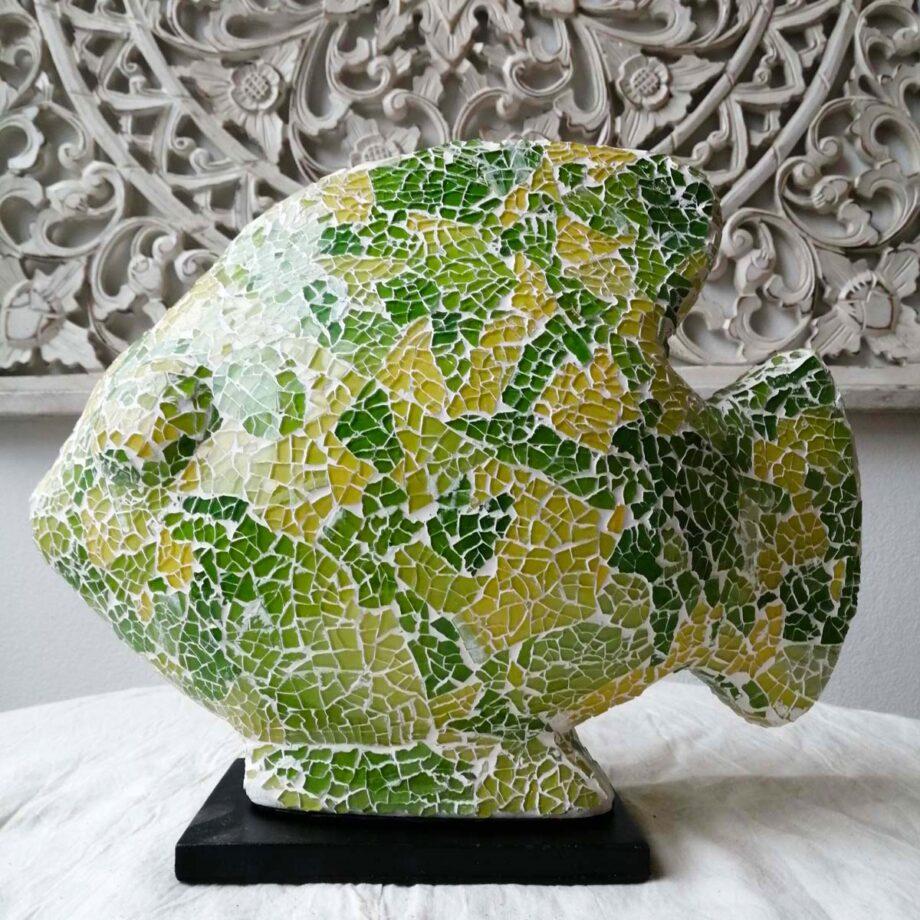 lampada etnica pesce verde giallo vetro resina (2)