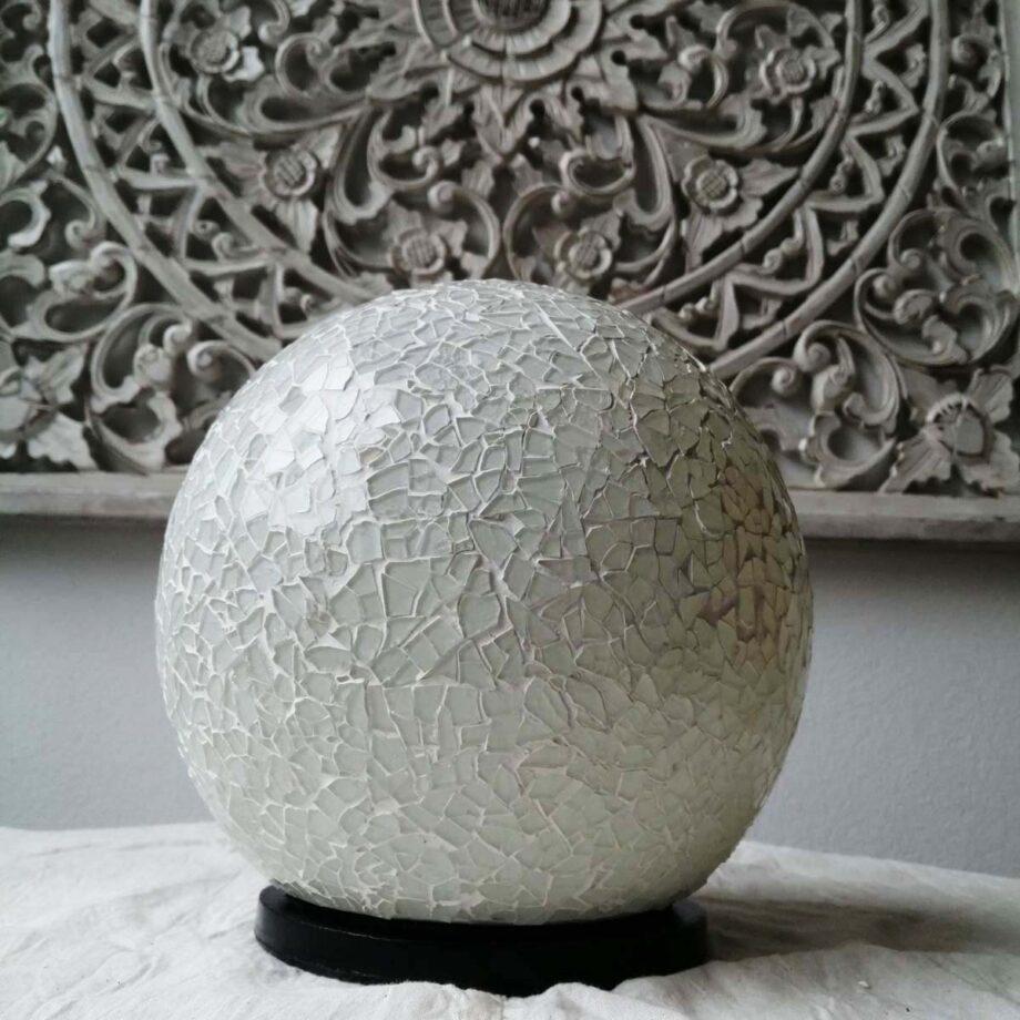 lampada sfera crack etnica bianca (3)