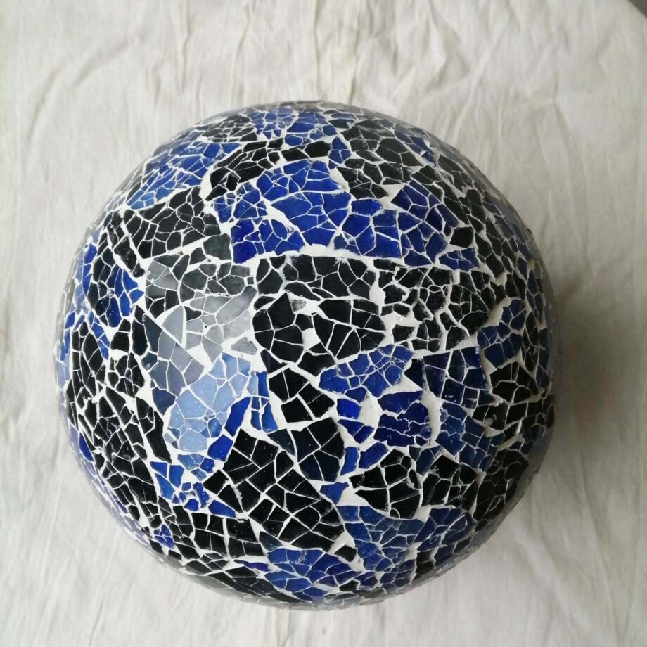 lampada sfera etnica nero blu top