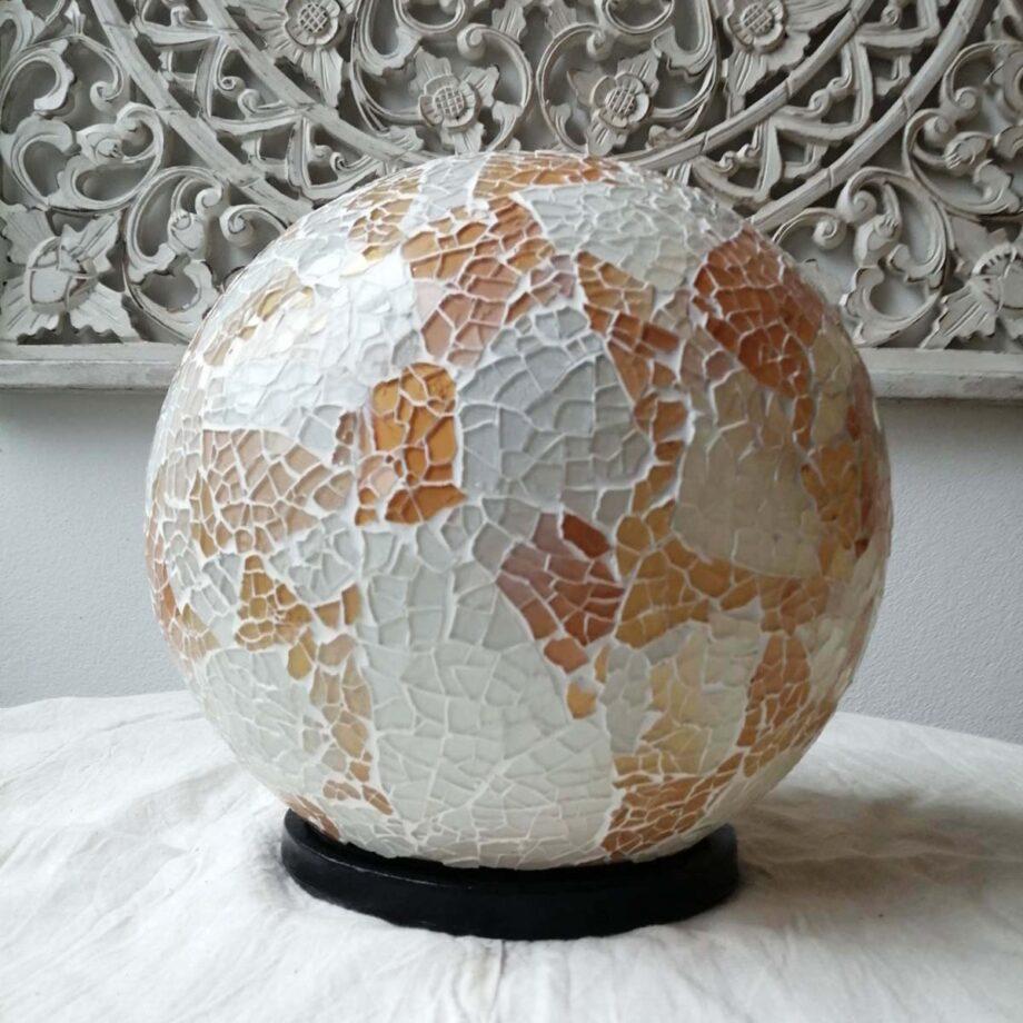 lampada sfera etnica oro bianca (2)