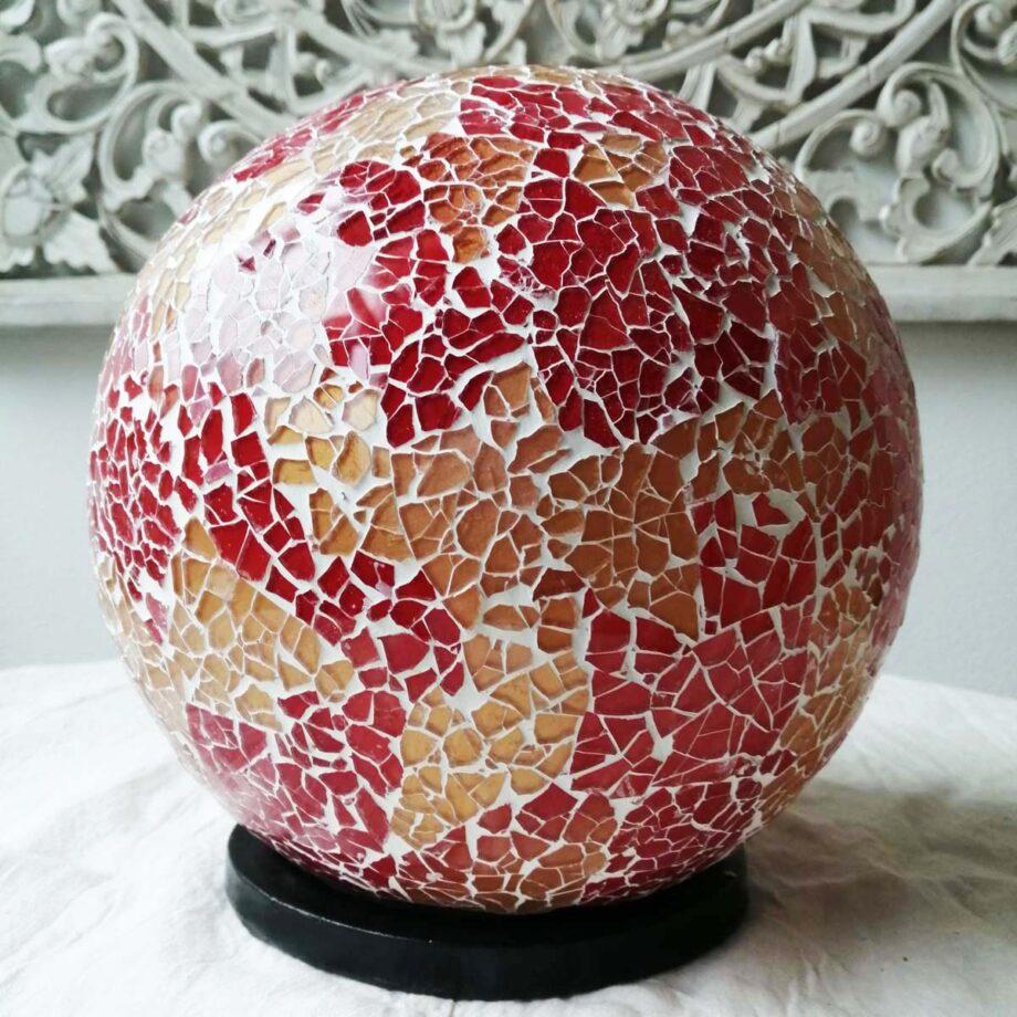 lampada sfera etnica oro rossa (2)