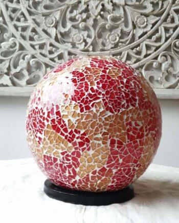 lampada sfera etnica oro rossa (3)