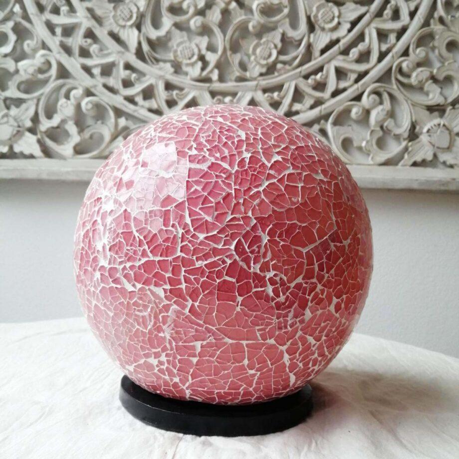 lampada sfera etnica rosa