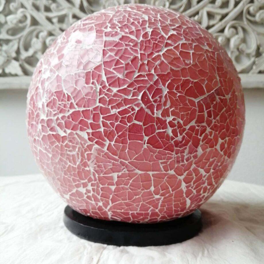 lampada sfera etnica rosa big