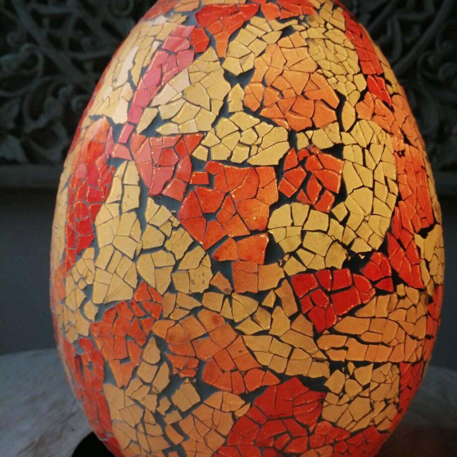 lampada uovo etnica crack arredo rosa bianca veto resina (2)