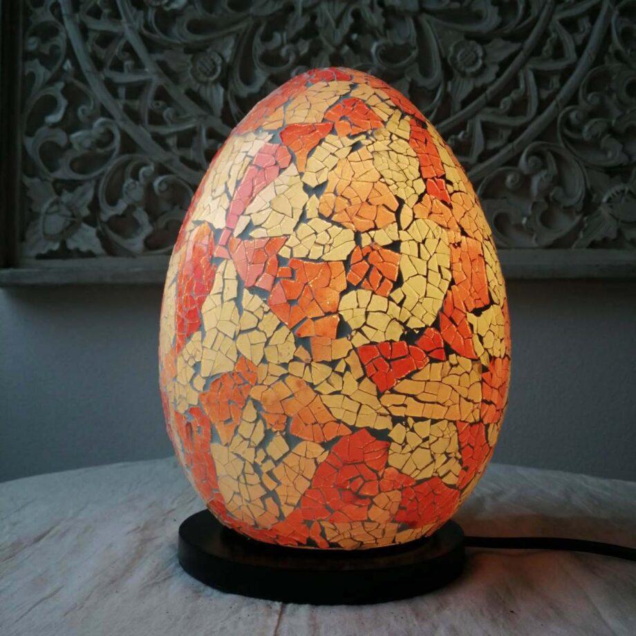 lampada uovo etnica crack arredo rosa bianca veto resina (5)