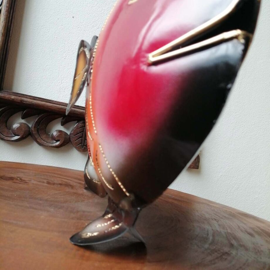 pesce portacandela lamiera ferro etnico nyalan rosso (1)