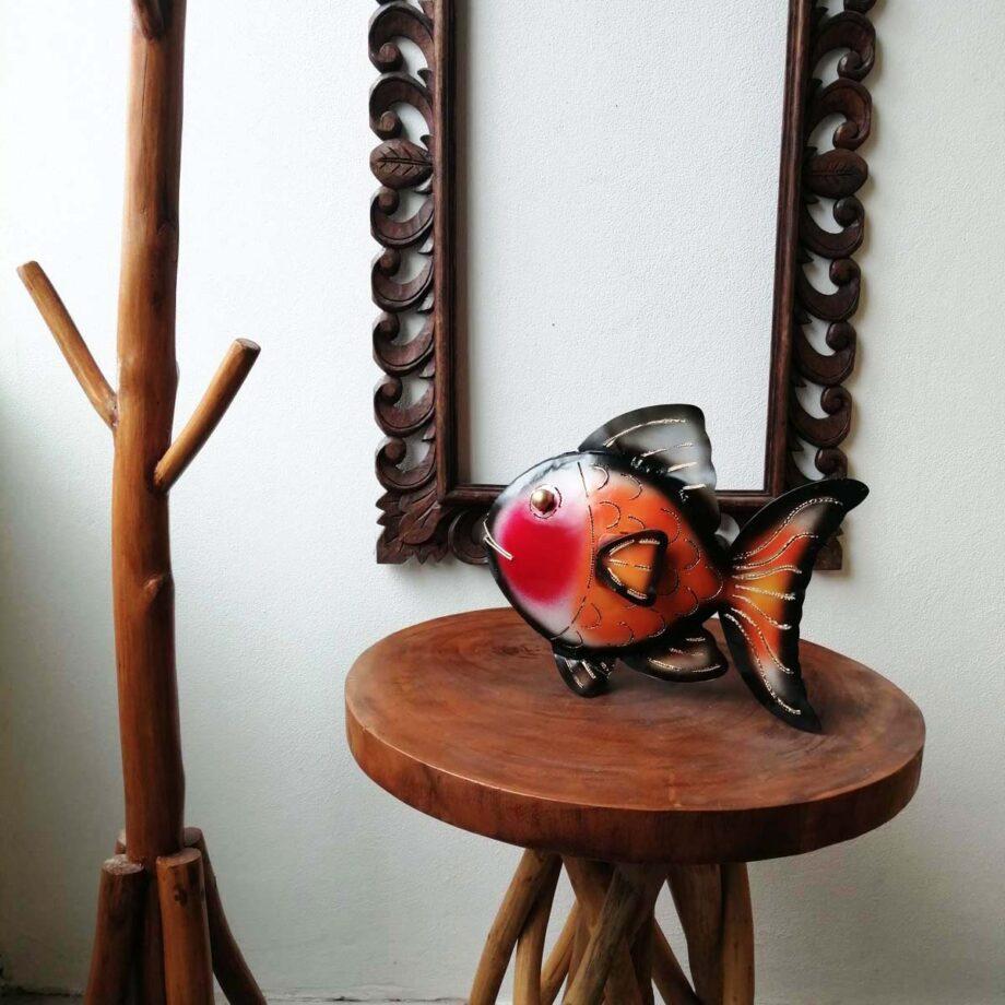 pesce portacandela lamiera ferro etnico nyalan rosso (2)