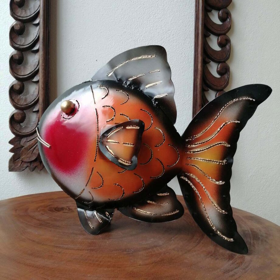 pesce portacandela lamiera ferro etnico nyalan rosso (3)