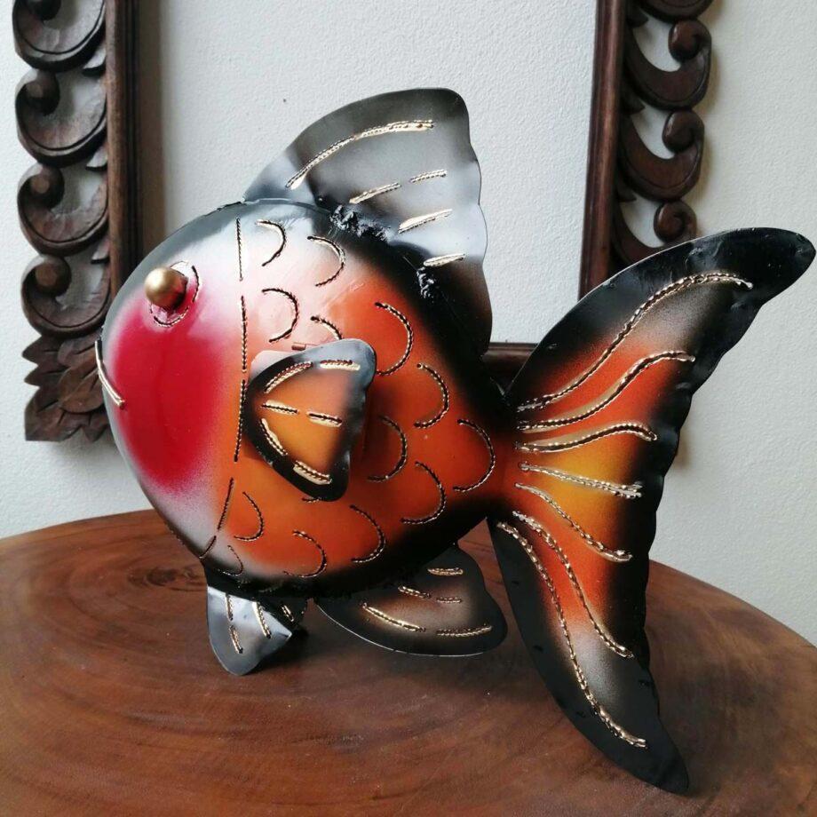 pesce portacandela lamiera ferro etnico nyalan rosso (5)