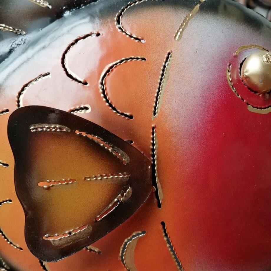 pesce portacandela lamiera ferro etnico nyalan rosso (8)