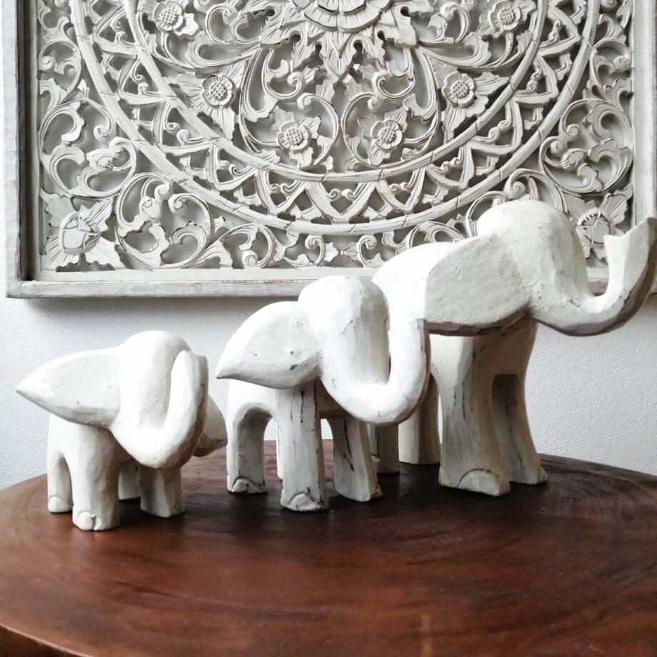 set elefanti legno arredo etnico interni