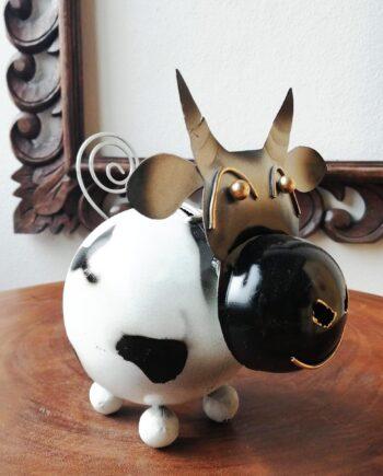 salvadanaio mucca lamiera ferro artigianato etnico (2)