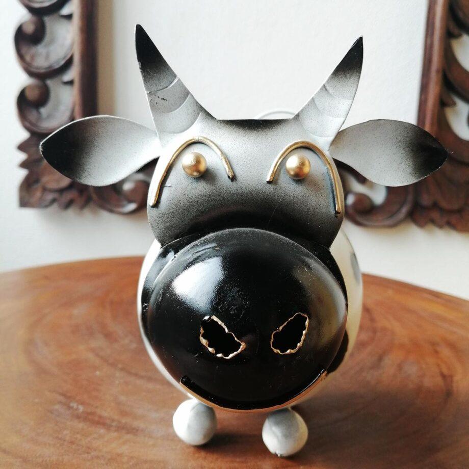 salvadanaio mucca lamiera ferro artigianato etnico (4)