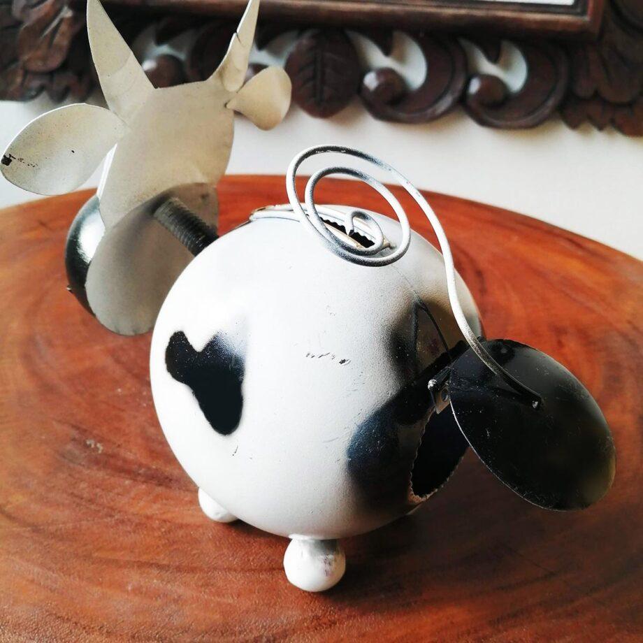 salvadanaio mucca lamiera ferro artigianato etnico (5)