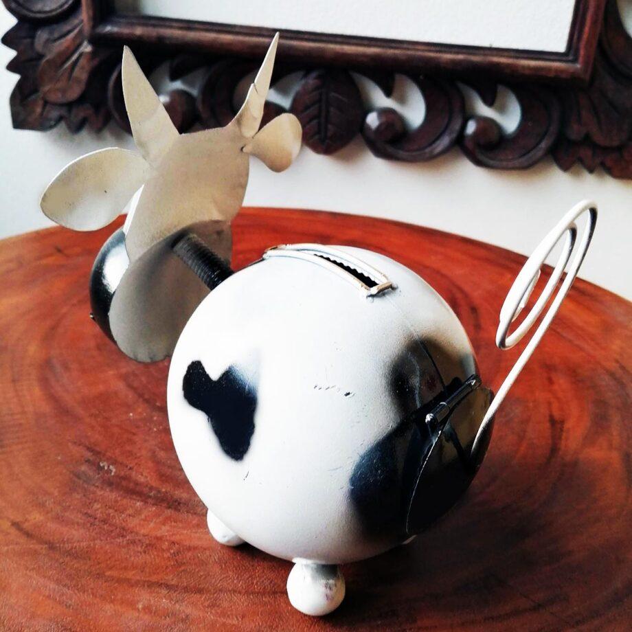 salvadanaio mucca lamiera ferro artigianato etnico (6)
