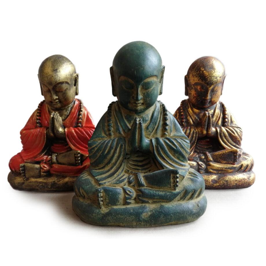 statua monaco resina arredo etnico (1)